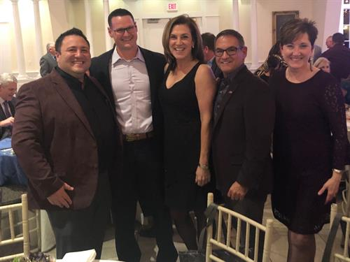 Calcagni Real Estate President, Antonio Liguori with Johnny Carrier of By Carrier builders, Liz Verna of Verna Development Corp., Joel Grossman, New Business Development Director for Calcagni and Kathy Bauer, Marketing Director for Calcagni Real Estate at the 2019 HOBI award