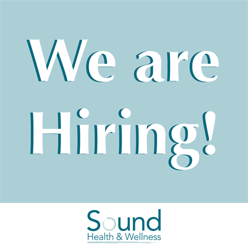 We are hiring! Sound Health & Wellness is looking for a new Trauma-Focused Clinician to join our team.  Check out our job posting & apply! https://www.indeed.com/.../trauma-focused-therapist-lpc...