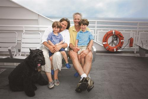 All of our ferries are family and dog-friendly!