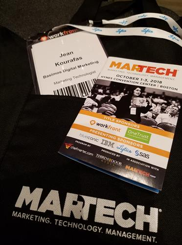 MarTech attendee - learning about the latest in marketing technologies