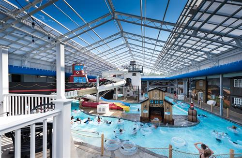 Indoor Water Park with retractable roof, open year round