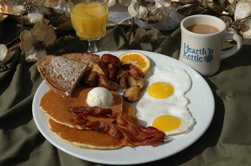 Breakfast served all day at Hearth 'n Kettle