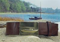 Cape Cod Sailboat Leather Belt