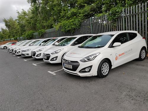 Fleet of vehicles signwritten