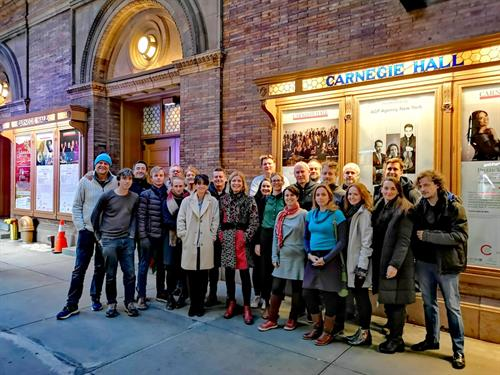 The ICO outside Carnegie Hall on our 2019 US Tour
