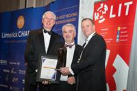 HOMS Solicitors sponsoring the Large Business Award, won by Roadbridge in 2017, Limerick Chamber Regional Business Awards