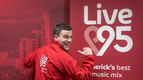 Lee Dillon Showing off the New Look for Live 95