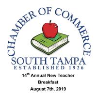 14th Annual South Tampa New Teacher Welcome Breakfast