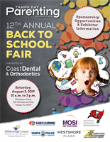 Tampa Bay Parenting Magazine 12th Annual Back to School Fair