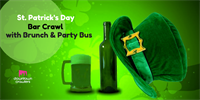 St Patrick's Day Bar Crawl with Brunch & Party Bus