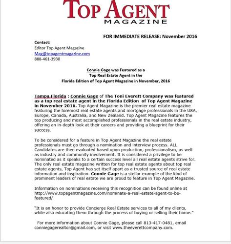 Top Agent Magazine Award