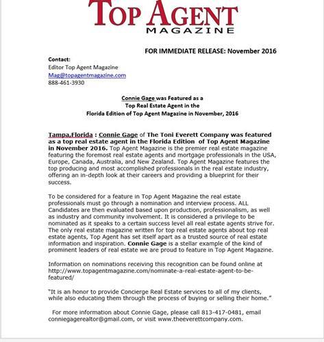 Top Agent Magazine Award
