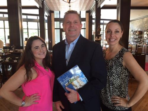 Sprint Tampa Business Solutions Sales Manager Dave Rose with STCOC leaders Stephanie Hyman and CEO Kelly Flannery