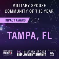Tampa Receives Military Spouse Impact Award for Community of the Year by Hiring Our Heroes, U.S. Cha