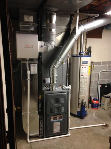 Armstrong Furnace with Humifier Install