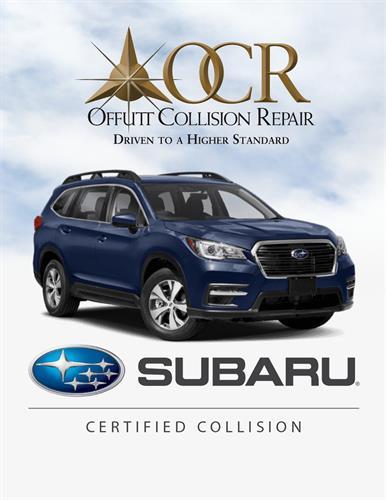 Subaru Certified Collision Shop