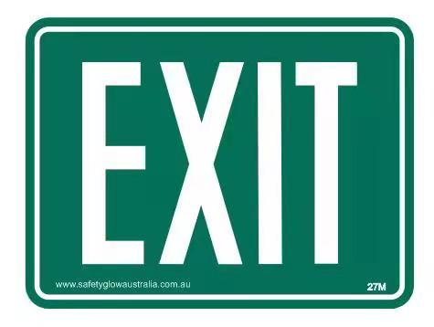 Example AS1319 27m exit sign