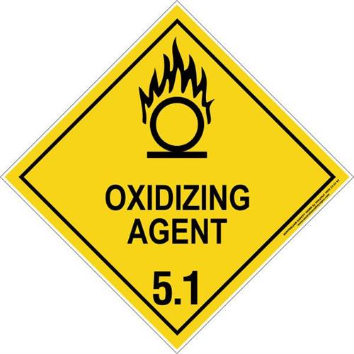 Signs for rear of trucks for dangerous goods carrying