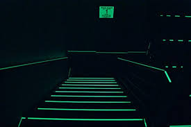 Safety Glow Australia evacuation staircase with photo luminescent way finders