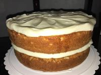 Fresh Lemon Cake with a Lemon Cream Cheese icing!