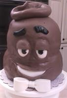 "All Chocolate ""Poop"" shaped cake"
