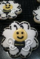 "Adult Spelling ""Bee"" decorated cookies"