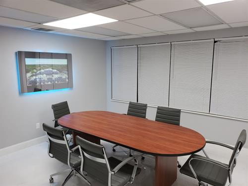 Select from 3 newly renovated conference rooms for rent by the hour, half-day, or full-day