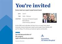 Minimally Invasive Carpal Tunnel Surgery: Open House & Live Demo