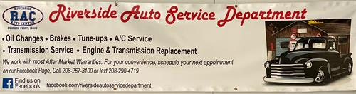 Some of the services provided by our Service Department.