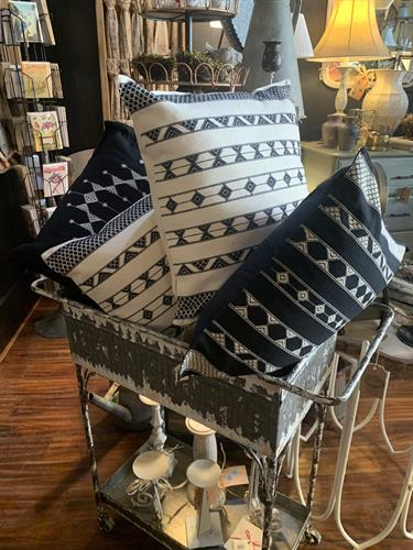 Wonderful pillow selectin.  Most made locally.