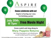 FREE Movie Night @ Aspire - Aspire's 1st birthday party