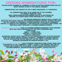 Annual Awards Nominations Being Accepted