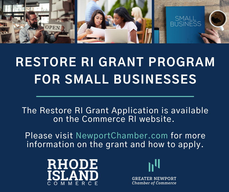 Greater Newport Chamber of Commerce Urges Local Businesses to Begin Preparing for Restore RI Grant Program
