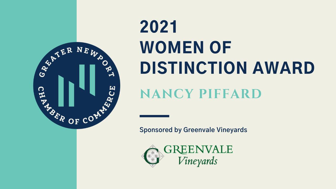 Greater Newport Chamber of Commerce honors 2021 Women of Distinction: Nancy Piffard