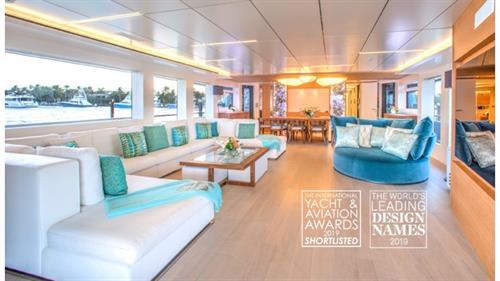 32 meter M/Y Calliope. Award winning interior