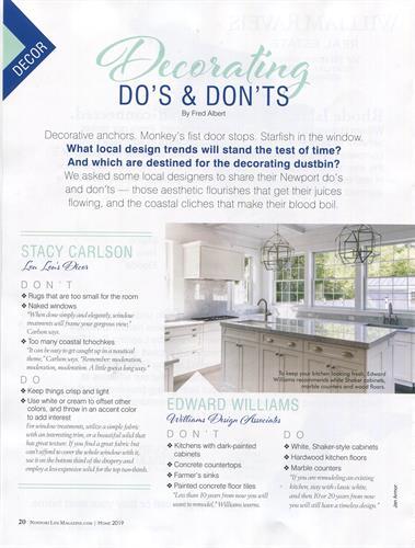 Newport Life Magazine 2019 Home Issue - Williams Design Associates
