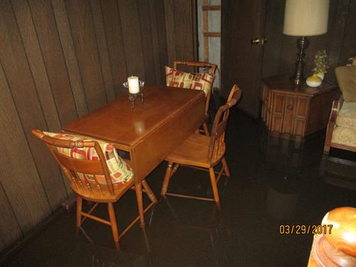 flooded finished basement
