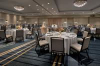 The Grand Ballroom can seat 550 banquet style or be divided into four salons for smaller meetings.