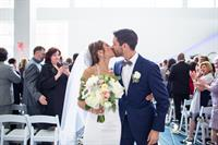 The Atrium is the perfect setting for a wedding ceremony, with natural light streaming through six stories of windows.