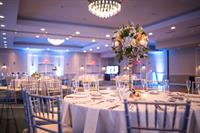 The Grand Ballroom can be upgraded with audio visual packages, string lighting and more.