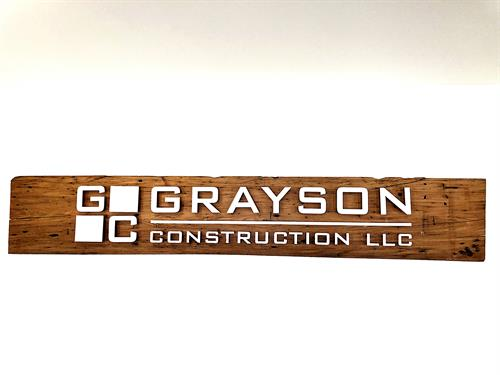 Grayson Construcion - Custom Office Sign