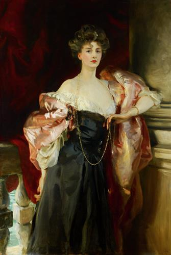 """Lady Helen Vincent, Viscountess d'Abernon"" by John Singer Sargent (American, 1856-1925)"