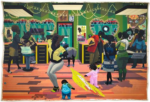 """School of Beauty, School of Culture"" by Kerry James Marshall (American, b.1955) image © Kerry James Marshall"