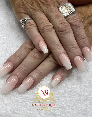 Ombré dipping powder nails