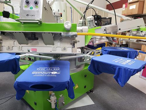 Our screen printing machine.