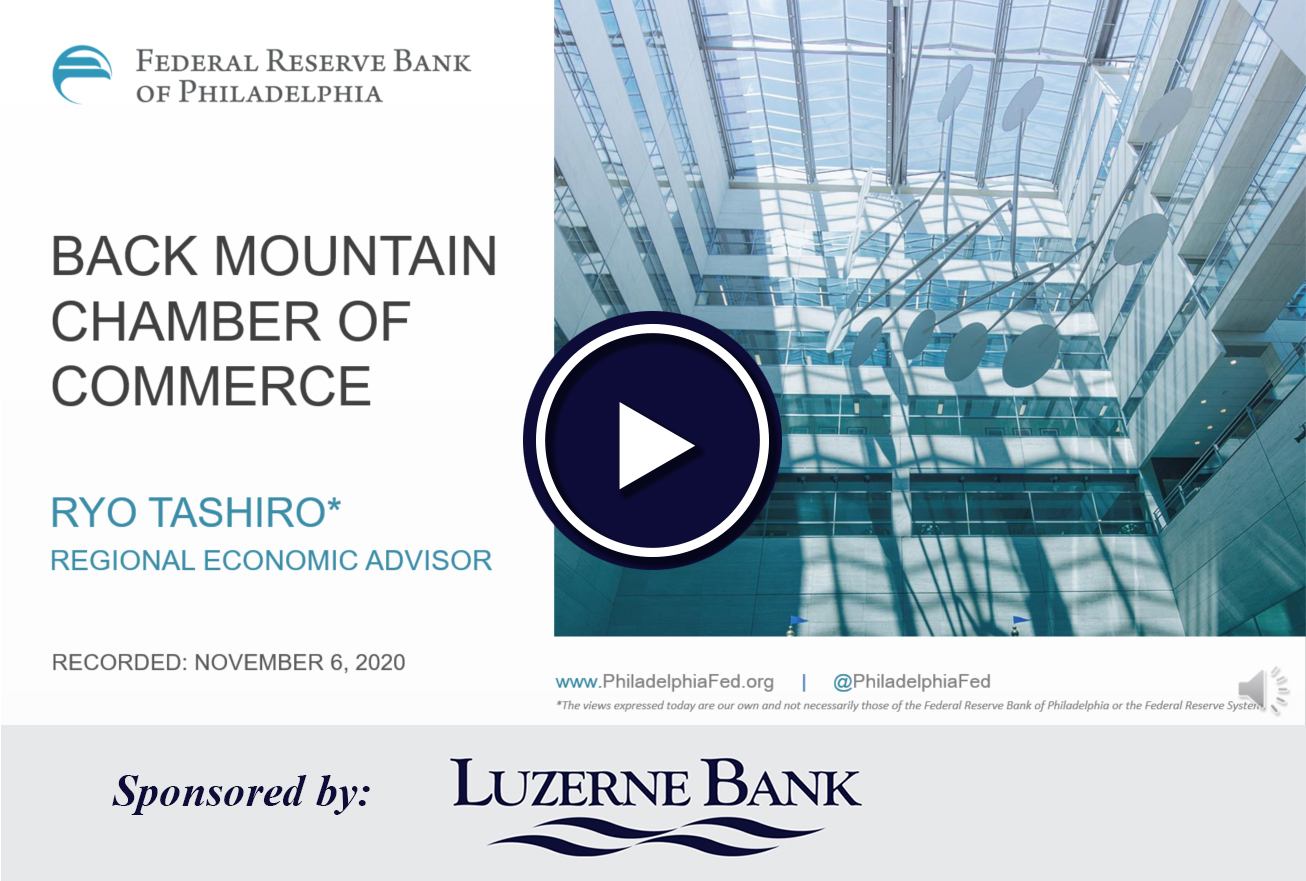 Image for Regional Economic Update Sponsored by Luzerne Bank