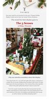 The 5 Senses was very honored to be the national winner for Thymes Frazier Fir display:-)
