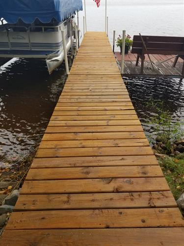 Boat Dock Staining