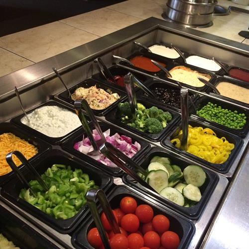 All you can eat salad bar