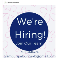 Looking for: Manicurists, Hair stylists and more.